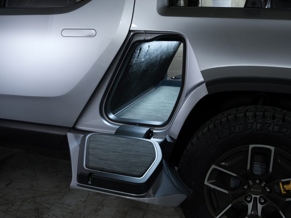 Rivian R1T Electric Truck Gear Tunnel
